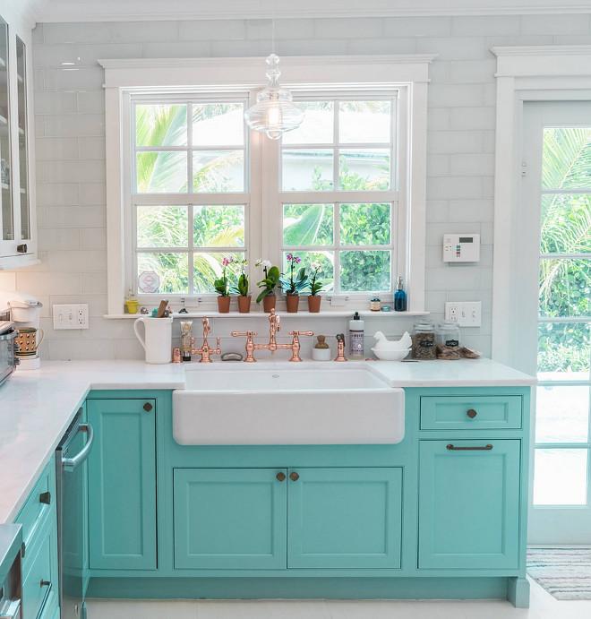 Turquoise Kitchen Design - Home Bunch Interior Design